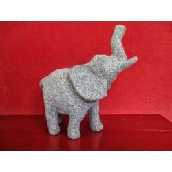Elephant en papier mâché décoré texture sablée granitique