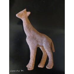 giraffe paper mache decorated granite sand texture