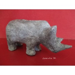 Rhinoceros paper mache decorated gray concrete texture
