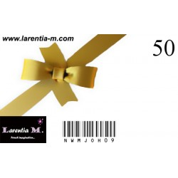 Gift card - 50 €